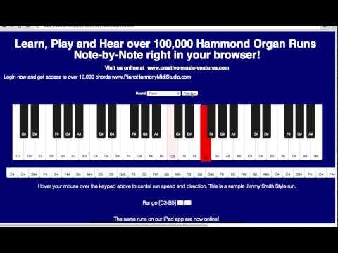 Gospel/Jazz  Hammond Organ Runs