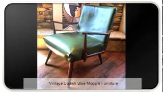 Vintage Danish Blue Modern Furniture