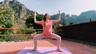 УТРЕННЯЯ Йога ПЕРЕД РАБОТОЙ 20 минут йога и настройка на день ОнаВолна Йога для начинающих