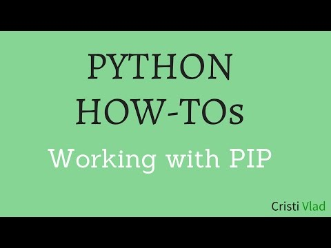Python How-Tos - Pip Install, Upgrade, Version