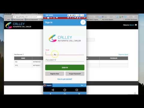 Video 2 - Load Numbers On Calley Automatic Dialer Android Mobile App