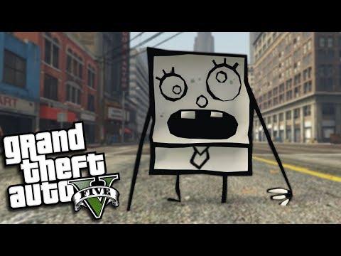 "GTA 5 Mods - SPONGEBOB'S ""DOODLE BOB"" MOD (GTA 5 PC Mods Gameplay)"