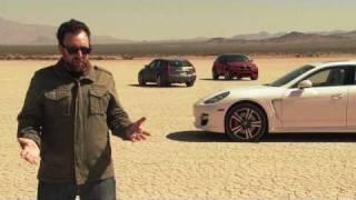 Desert Shootout! 2011 Cadillac CTS-V vs 2011 Porsche Panamera Turbo vs 2011 BMW X6 M