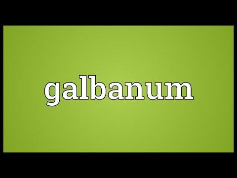 Header of galbanum