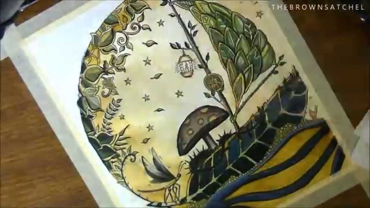 enchanted forest coloring page voyage to the moon youtube