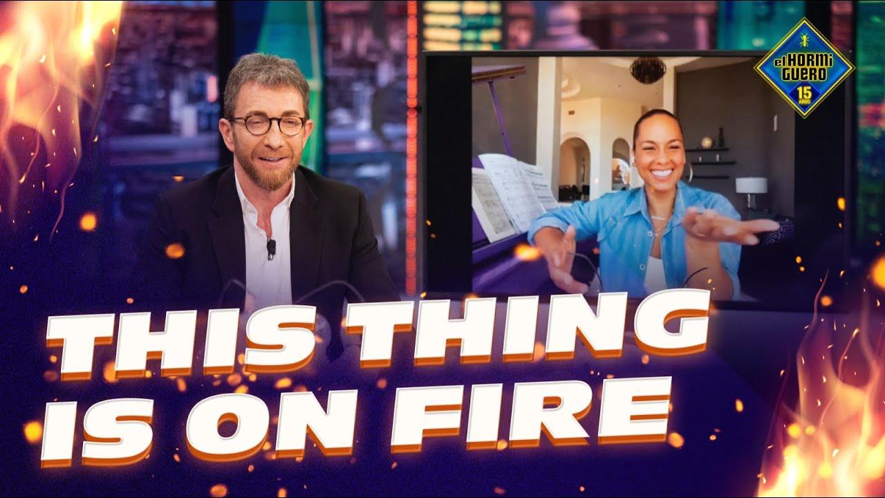 LA SECCIÓN MÁS EXPLOSIVA - Alicia Keys se enfrenta al 'This thing is on fire' - El Hormiguero