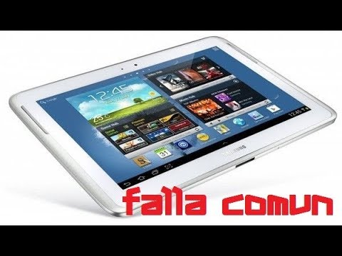 FALLA COMUN TABLET SAMSUNG GALAXY NOTE 10.1