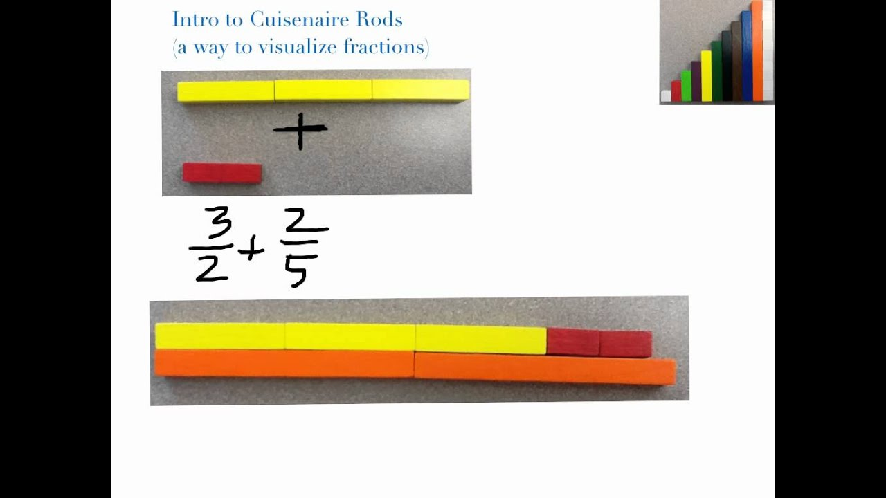 Intro to Cuisenaire Rods for Fractions - YouTube