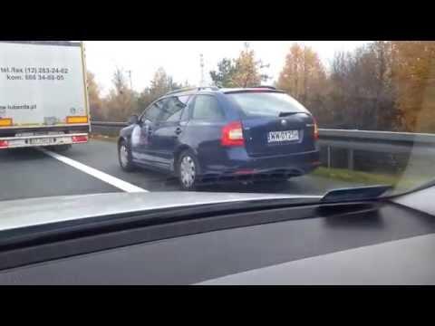 Wypadek na A4 - cwaniak z TVN24