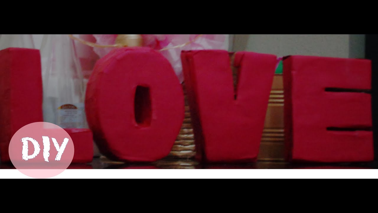 Diy Letras Decorativas Como Fazer Letras Decorativas 3d Diy Iniciantes Youtube