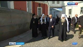 Сегодня Владимир Путин посетил остров Валаам