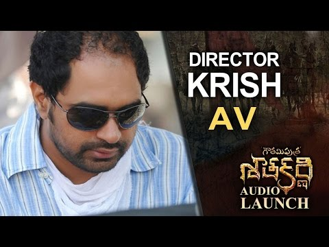 Director Krish Special AV @ Gautamiputra Satakarni Audio Launch | Lahari Music | T-Series