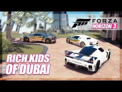 Forza Horizon 3 - Rich Kids of Dubai Challenge! (Cruising, Valet Parking, More)