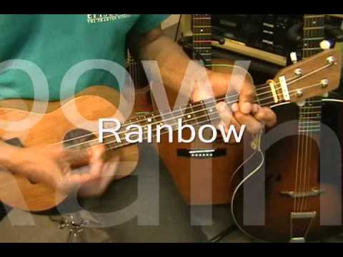 IZ Israel Kamakawiwo \'ole SOMEWHERE OVER THE RAINBOW Quick Ukulele ...