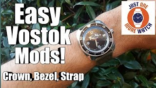 It's Makeover Week! New Crown, Bezel and Strap - Vostok Amphibia 710634