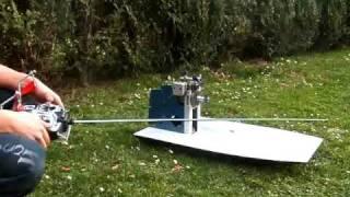 Airboat 25cc - test engine and servos by BartekS