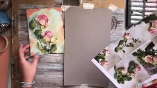 Сухая пастель, розы, запись прямого эфира/Painting Demonstration of Rose, Soft Pastels