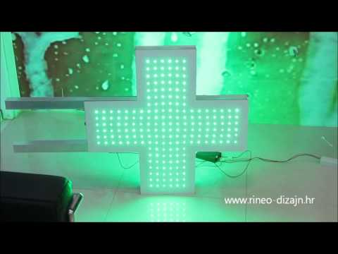 pixel led sign - medical cross
