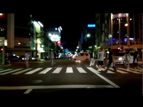 The Hamamatsu city area drive of night / August, 2012