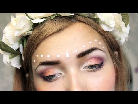 Festival Inspired Makeup Tutorial | Collab w/ Emma's Rectangle