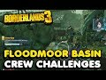 Borderlands 3 All Floodmoor Basin Crew Challenges | Typhon Logs, Claptraps, Crimson Radios, etc...