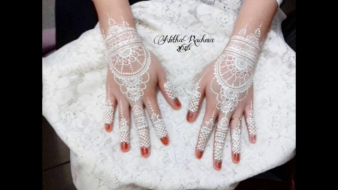 Gambar Henna Putih Simple Balehenna