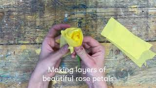 How to make your own paper roses | Valentine's Day craft class