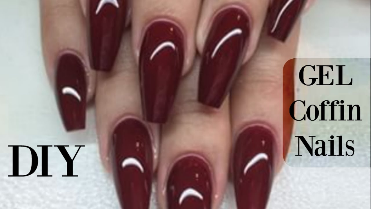 DIY COFFIN SHAPED GEL NAILS HACK | $9 Lasts 14 days! - YouTube