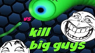 HOW TO KILL AND TROLL BIG GUYS ON SLITHER.IO
