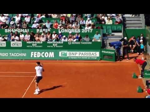 Novak Djokovic LOSES David Goffin 2017 Quarter Finals Monte Carlo Rolex Masters (1st set recording)