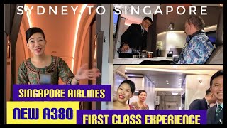 SINGAPORE Airlines *NEW* a380R FIRST Class SUITES Seat 1F SYDney-SINgapore