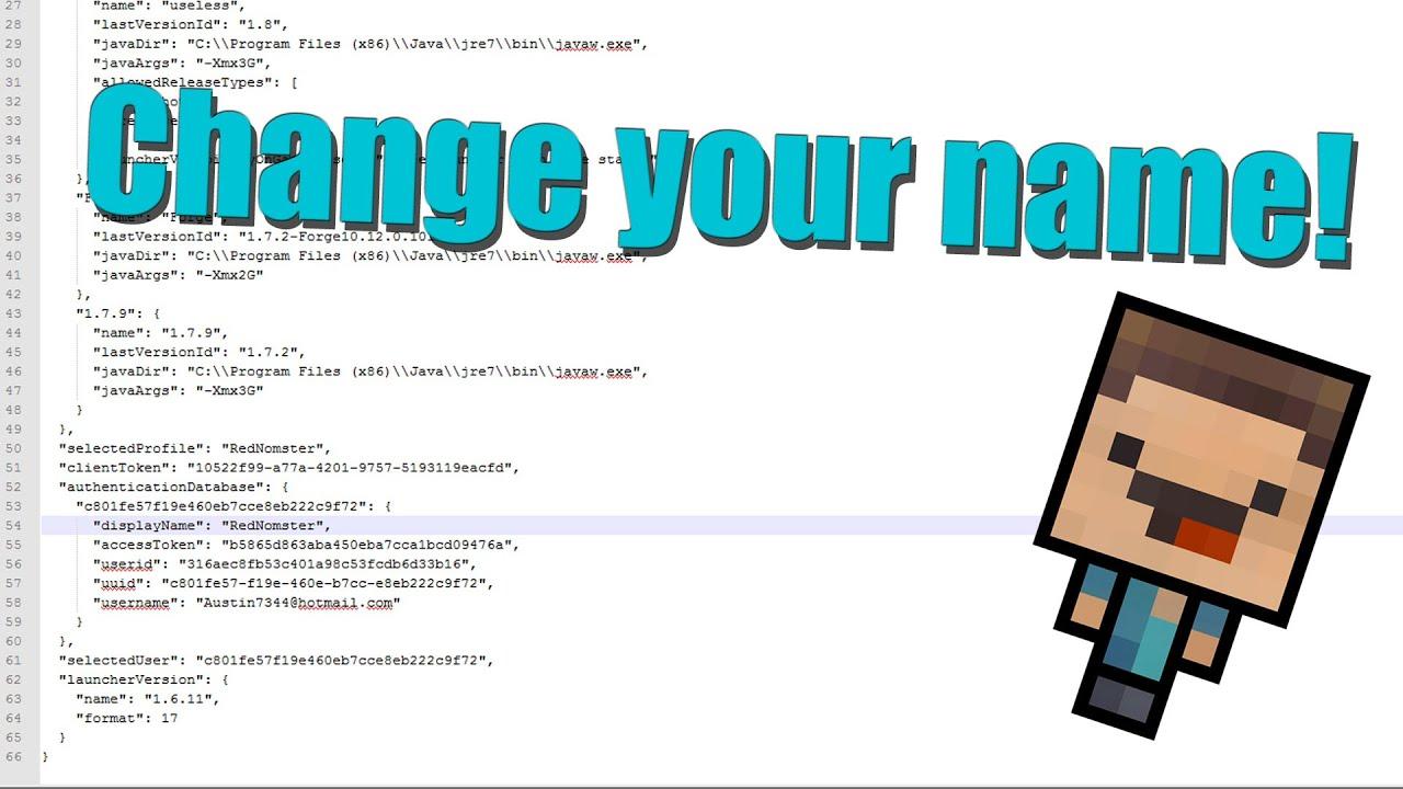Player name -> UUID