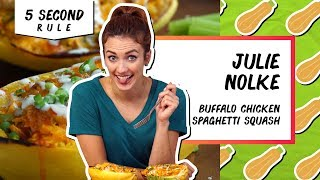 Buffalo Chicken Spaghetti Squash | 5 Second Rule with Julie