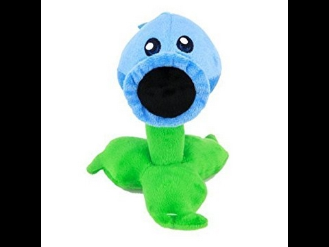 plants vs zombies snow pea plush unboxing and review - YouTube