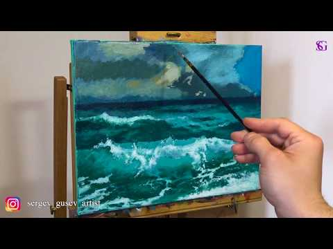 Can't paint sea? Watch this tutorial for beginners! thumbnail