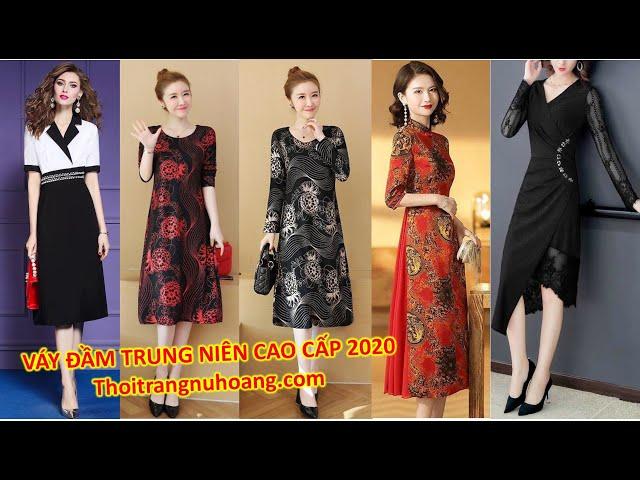 [Thời Trang Nữ Hoàng] Váy, Áo Đầm Trung Niên, thời trang trung niên đẹp cao cấp sang trọng 2020 tuổi 40, 50, tphcm, Hà nội
