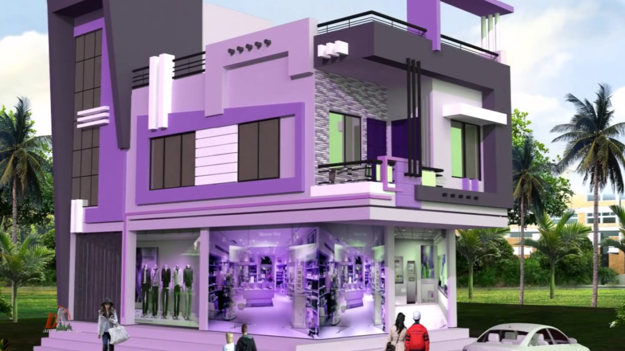 Home Front Elevation Colour : How looks purple color on home exterior youtube
