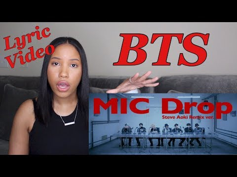 BTS Mic Drop Reaction (Lyric Video)