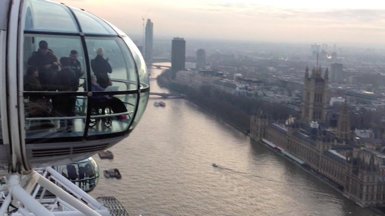 360° view of London from the top of London Eye - YouTube