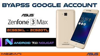 Bypass Google Account ASUS Zenfone 3 Max Android 7.1.1 Nougat Remove FRP