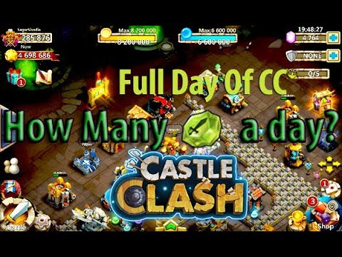 Castle Clash: How Many Shards A Day?   Full Day Of CC