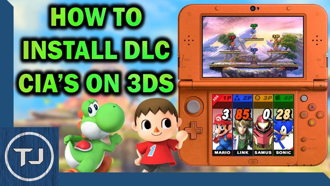 How To Install DLC CIA's For 3DS Games!