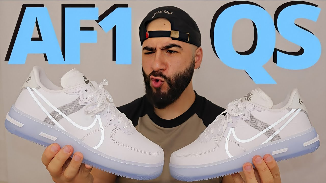 ICE COLD. Nike AIR FORCE 1 REACT QS WHITE / SAIL / LIGHT BONE On Foot Review