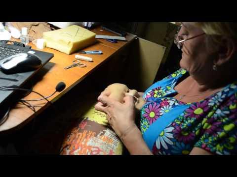 видео: мастер класс по изготовлению скульптурной -текстильной куклы ч.10