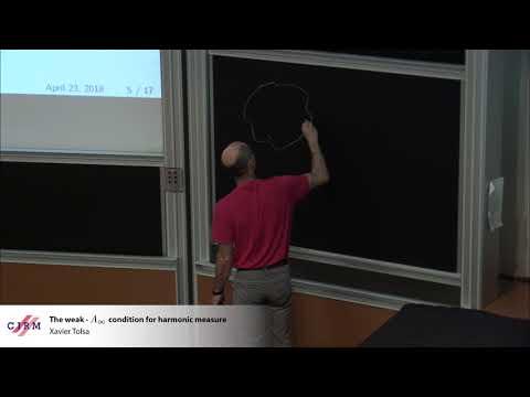 Xavier Tolsa: The weak-A∞ condition for harmonic measure