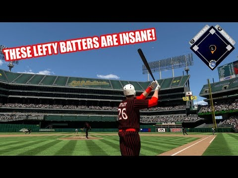 THESE LEFTY BATTERS ARE INSANE!  - MLB The Show 17 Diamond Dynasty Gameplay