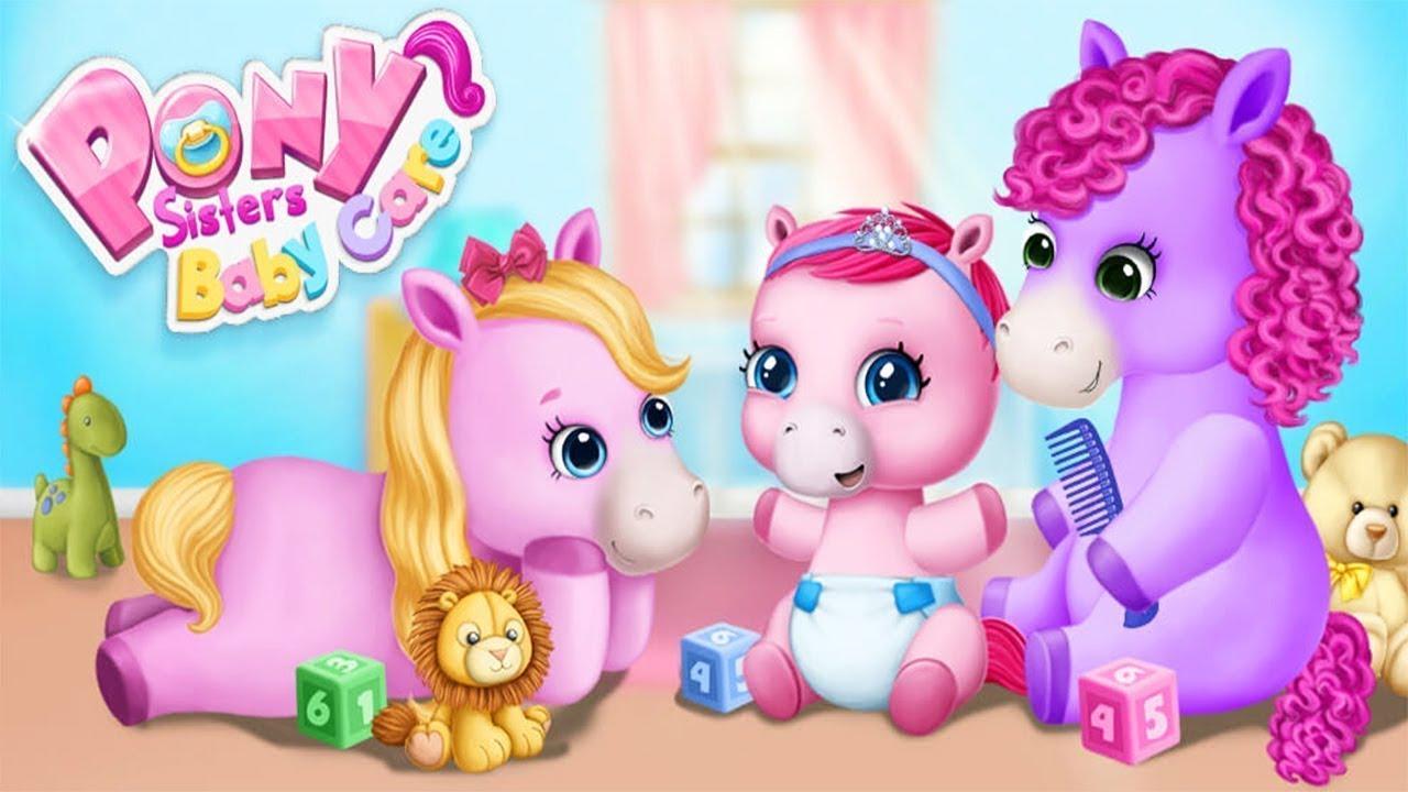 Permainan Anak Kuda Poni Pony Lucu Seru Menyenangkan Dandan Makan Make Up Film Video Kartun Youtube
