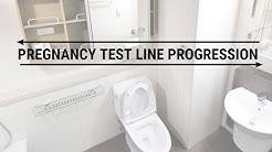 Pregnancy Test Line Progression - 7 dpo - 18 dpo