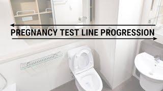 Pregnancy Test Line Progression | 7 dpo - 18 dpo | FIRST POSITIVE AT 8 DPO