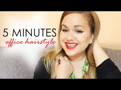 5 Minutes Office Hairstyle | Coafura pentru birou in 5 minute!